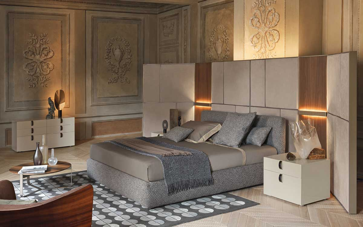 Flou Bedroom on sale | MERKURIO | Restelli Milan and Como