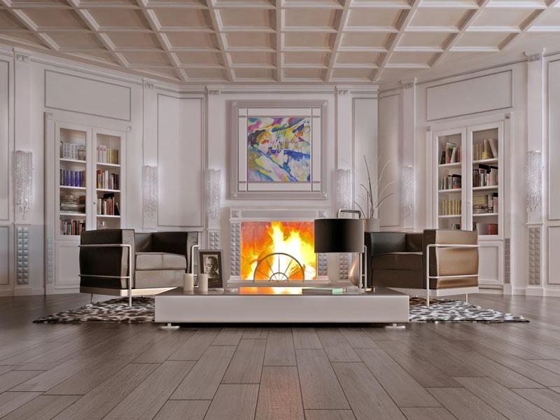 Esempi arredamento di lusso per interni ideati da restelli for Arredamento classico lusso