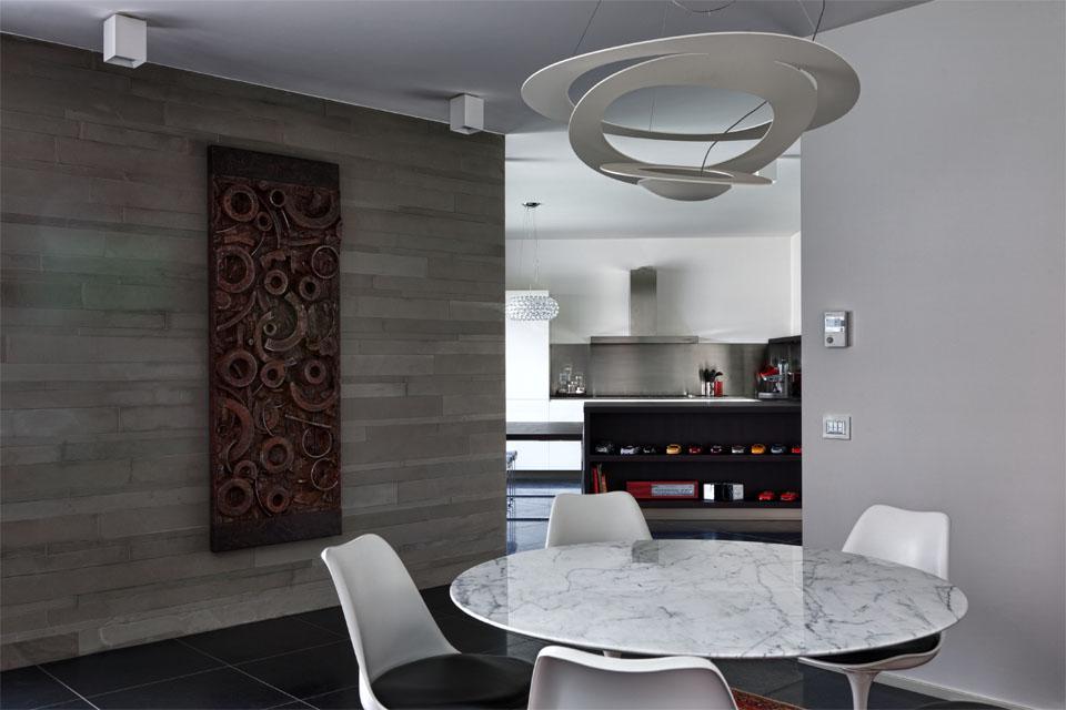 Idee per arredare piccolo soggiorno con angolo cottura restelli